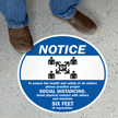 Notice For Health and Safety Social Distance