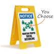 NOTICE: Maintain Proper Social Distancing (w/ Graphic) FloorBoss XL™ Floor Sign