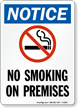 Notice No Smoking On Premises Sign