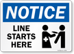 Notice Vaccine Line Starts Here Vaccine Safety Sign