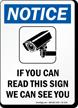 Notice Video Surveillance OSHA Sign