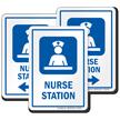 Nurse Station Care Staff Area Sign