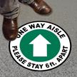 Social Distancing Circular Floor Sign