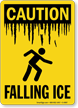 Falling Ice OSHA Caution Sign