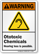 Ototoxic Chemicals Hearing Loss Possible Warning Sign