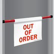 Out Of Order Door Barricade Sign