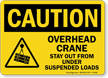 Overhead Crane Stay Out Under Suspended Loads Sign