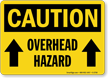 Caution Overhead Hazard Sign