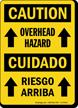 Overhead Hazard / Riesgo Arriba Bilingual Caution Sign