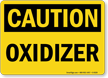 Oxidizer OSHA Caution Sign