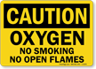 Danger Oxygen No Smoking Flames Sign