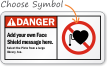 Danger ANSI  Pacemaker Sign