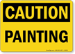 Painting OSHA Caution Sign