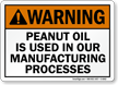 Warning Peanut Allergy Sign