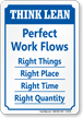 Perfect Work Flows Right Things, Place, Time Sign