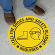 PPE SlipSafe™ Floor Sign (with Graphic)