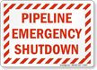 Emergency Shut Down Sign