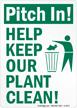 Trash Litter Sign