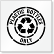 Plastic Bottles Only Recycling Stencil with Graphic