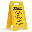 Caution Wet Floor W/Graphic Fold-Ups® Floor Sign