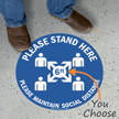 Please Maintain Social Distance SlipSafe Floor Sign