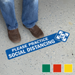 Please Practice Social Distancing with Clipart