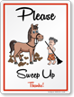 Please Sweep Up Horse Safety Sign
