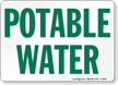 Potable Water Sign onmouseover =