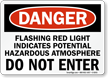 Hazardous Atmosphere Do Not Enter Sign