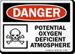 Potential Oxygen Deficient Atmosphere Osha Danger Sign