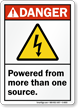 Powered From More Than One Source Danger Sign