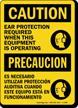 Bilingual OSHA Caution / Precaucion Sign