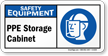 PPE Storage Cabinet Sign