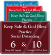 Practice Social Distancing Add Number Of Person ShowCase Sign