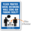 Practice Social Distancing While Using Parking Sign