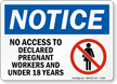 No Access To Pregnant Workers Notice Sign