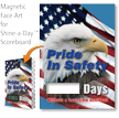 Pride In Safety Scoreboard Magnetic Face, American Flag
