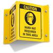 Caution Hard Hat Required (symbol) Sign