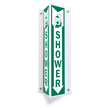 Projecting Shower Sign, 18in. x 4in.