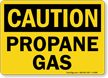 Caution Propane Gas Sign