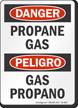 Propane Gas Bilingual OSHA Danger Sign