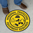 Personal Protective Equipment Required Floor Sign