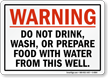 Water Warning Sign
