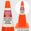 Quarantine Area Wash Hands Cone Message Collar