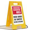 Quarantine Area Wash Hands FloorBoss Sign