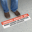 Quarantine Area Wash Hands SlipSafe Floor Sign