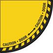 Caution - Door with Bidirectional Arrows