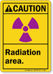 Radiation Area ANSI Caution Sign