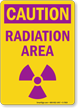 Radiation Area Caution Sign