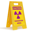 Caution Radiation Area Standing Floor Sign